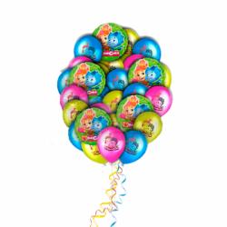 Букет фиксики из 19 воздушных шариков