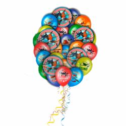 Подборка самолетов  букет из 23 воздушных шаров