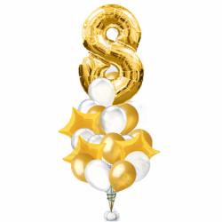 «Красивейшее поздравление» 24 шаров на день рождения