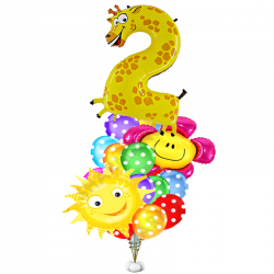 Букет «Поздравления для ребенка» из 18 воздушных шаров