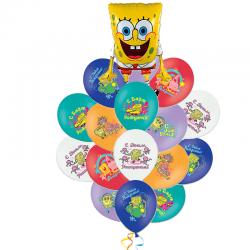 Букет «Веселый Спанч Боб» из 31 шаров на день рождения