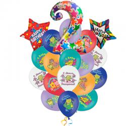Букет «Поздравление от Спанча» из 28 шаров