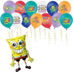 «Приглашение на праздник от Спанч Боба» шарики на день рождения