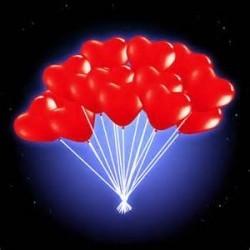 Светящиеся шары Красные сердца