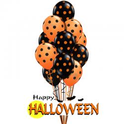 Воздушные шарики на хэллоуин
