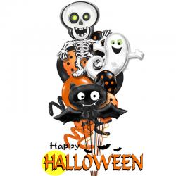 Букет на хэллоуин «Хэллоуинская вечеринка» из 18 шаров