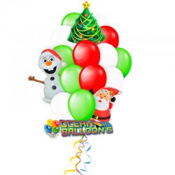Букет «Новогодний переполох» из 28 воздушных шаров на новый год