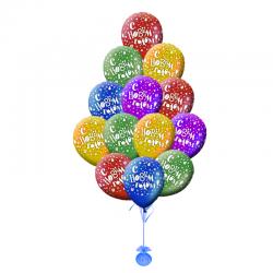 Разноцветные воздушные шары «С Новым годом»