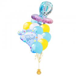 Любимому Сыночку композиция из 20 воздушных шаров и 2 фигур