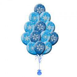 Воздушные Шарики на Новый год «Снежинки»