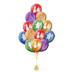 Воздушные Шары на Новый год «Дед мороз, елочка, снеговик»