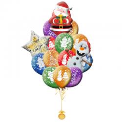 «Поздравление от Санты и Олафа» воздушные шары на Новый год