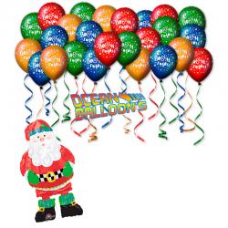 Воздушные Шарики на Новый год «С Новым годам от Санта»