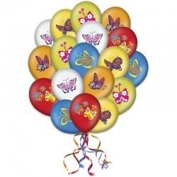 «Весеннее настроение» букет из 30 разноцветных воздушных шаров
