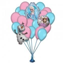«Поздравление от Эльзы» из 16 воздушных шаров и 3 фигур