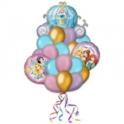 Букет «Карета Принцессы» из 25 воздушных шаров на день рождения