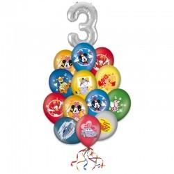 Букет «Счастливый день» на день рождения из 21 шариков
