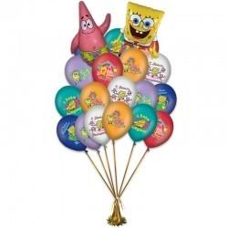 Воздушных шариков на день рождения «Поздравления от Спанч Боба»