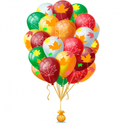 Композиция из 30 воздушных шариков «Сказочный листопад»