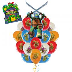 «Леонардо спешит поздравить» композиция  из 17 воздушных шаров