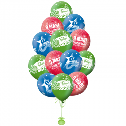 Разноцветные латексные шары к празднику День Победы