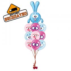 Детский букет из 21 воздушных шаров «От Кроша»