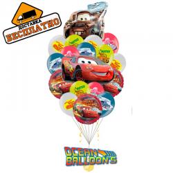 Композиция «Тачки 5» из 20 воздушных шаров на день рождения