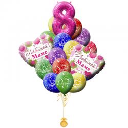 Букет из 18 воздушных шариков  Любимая Мама