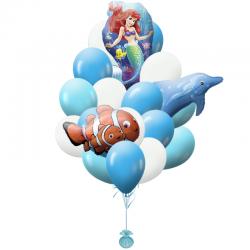 «Приключения Русалочки» букет на День рождения для девочки