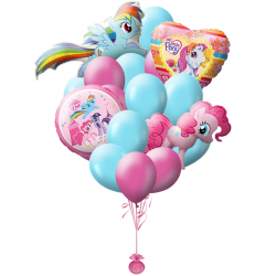 «Мой маленький пони» композиция из 17 воздушных шаров и 2 фигур