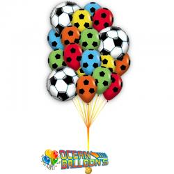 Композиция из 20 воздушных шаров на день рождения Футболист
