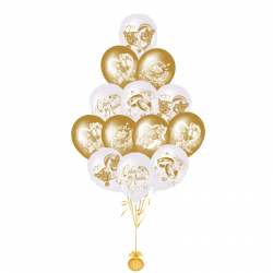 Воздушные шары на свадьбу «Поздравление для Молодоженов»