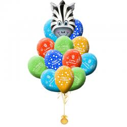 Букет на день рождения «Поздравление от Зебры»