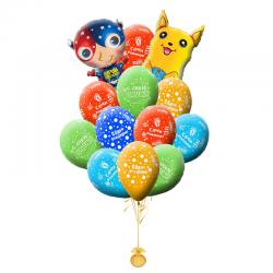 Шары воздушные на день рождения «Поздравление от Покемона»