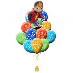 Букет на день рождения «Поздравление от Элвина»