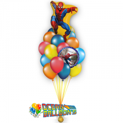 Букет на день рождения «Великий Человек Паук » из 20 шаров