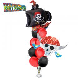 Букет из 19 воздушных шаров «Пираты»
