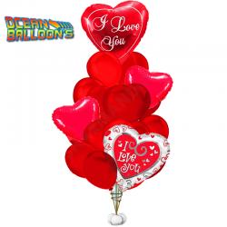 Композиция из 21 воздушных шаров «С Любовью»