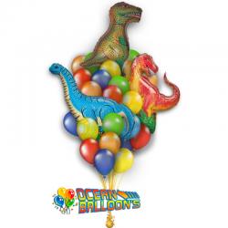 Букет на день рождения «Парк Динозавров» из 18 воздушных шаров