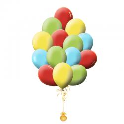 Простое облако из 100 пастельных воздушных шаров