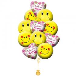 «Любимой Маме» веселый, яркий букет для Мамы из воздушных шаров