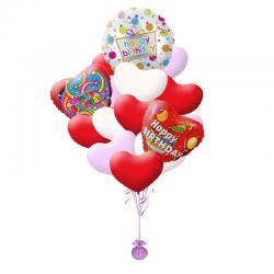 Сердечное поздравление с днем рождения из 20 воздушных шаров