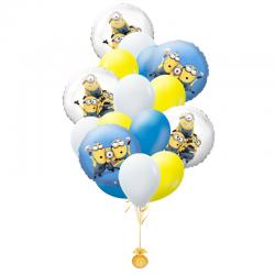 «Забавные Миньоны» из 15  воздушных шаров 5 кругов с рисунками Миньонов