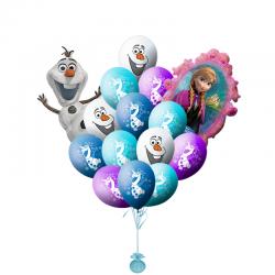 «Поздравления от Анны и Олафа» из 20 воздушных шаров с гелием
