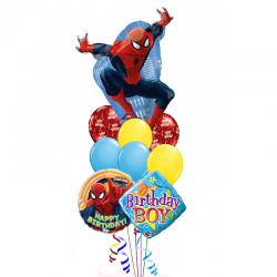 «Я Человек паук» из 18 воздушных шаров на день рождения