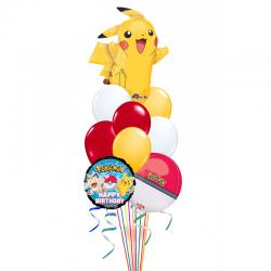 Букет «Поздравления от веселого покемона» из 18 воздушных шаров