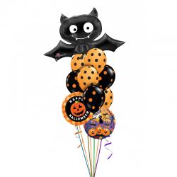 Букет «Черный Вампир» из воздушных шаров на праздник хеллоуин