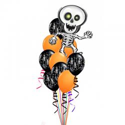 «Скилет на Хеллоуин» 21 воздушных шаров на праздник Хеллоуин