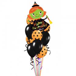Букет «HAPPY HALLOWEEN!» из 21воздушных шаров