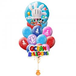 Поздравление героев Диснея из 25 шаров с гелием на день рождения